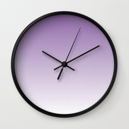 Lavender Ombre Wall Clock
