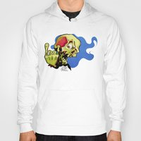 rock n roll Hoodies featuring Rock n' Roll Skull by Vida Graffiti