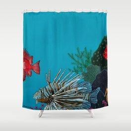 Scorpion & Bigeye fishes Shower Curtain