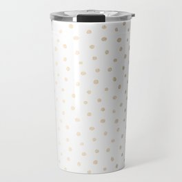 Golden Polka Dots Travel Mug