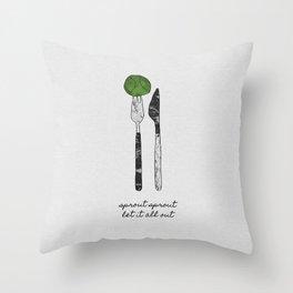 Sprout Sprout, Vegan, Vegetarian Throw Pillow