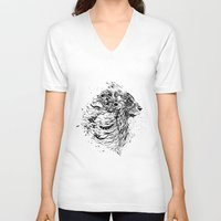 leo V-neck T-shirts featuring Leo by Daniac Design