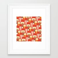 junk food Framed Art Prints featuring Junk Food by popsicledonut