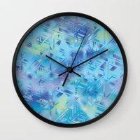 hologram Wall Clocks featuring Hologram by Marta Olga Klara