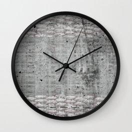 Grey mixed surfaces Wall Clock