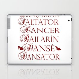 Dancer in multiple languages Romanian Portuguese Haitian Creole Latin Spanish Laptop & iPad Skin
