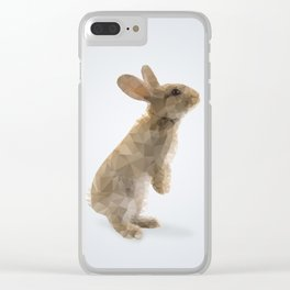 Polygon Rabbit Clear iPhone Case