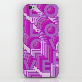 Love 3d Pink iPhone Skin