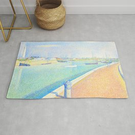 "Georges Seurat ""The Channel of Gravelines, Petit Fort Philippe"" Rug"