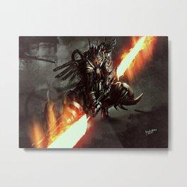 Elite Cyber Swordsman Upgrade Metal Print
