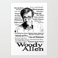 woody allen Art Prints featuring Woody Allen by Mark Matlock