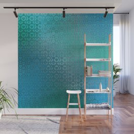 Trinity Pattern (ocean blues) Wall Mural