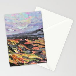 Hawaii Volcanoes Landscape Painting Stationery Cards