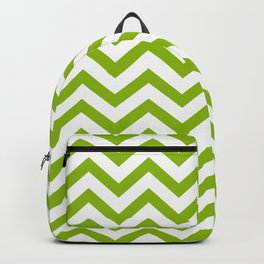 Simple Chevron Pattern - Apple Green & White - Mix & Match with Simplicity of Life Backpack