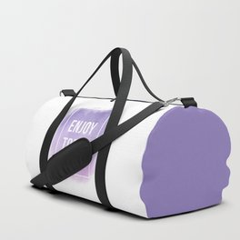 Enjoy Today Motivational Quote Duffle Bag