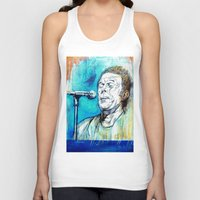 tom waits Tank Tops featuring Blue Tom Waits by Mark Matlock