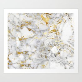 Gold Mine Marble Art Print