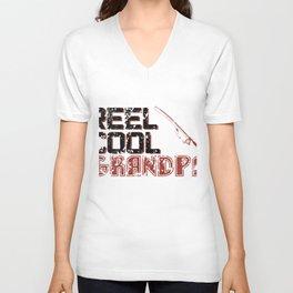 Reel Cool Grandpa - Fishing Unisex V-Neck
