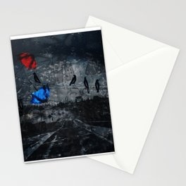 Blown Away on a Rainy Day Stationery Cards