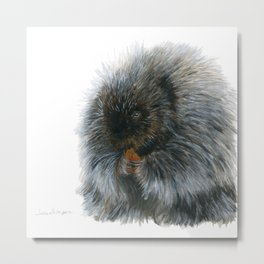 Vinnie the Porcupine by Teresa Thompson Metal Print