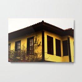 yellow pretty mansion Metal Print