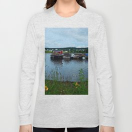 Fisherman's Wharf in Cape Breton Long Sleeve T-shirt