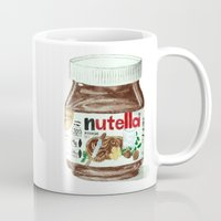 nutella Mugs featuring Nutella by Owl Feather Studio