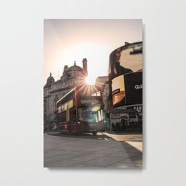 ArWork Bus Piccadily Sunset London ArtPhoto Art Metal Print