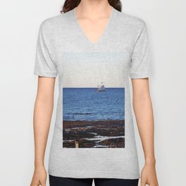 Tallship on the Saint-Lawrence Unisex V-Neck
