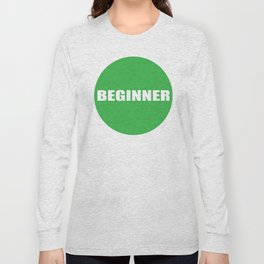 Text Beginner Long Sleeve T-shirt