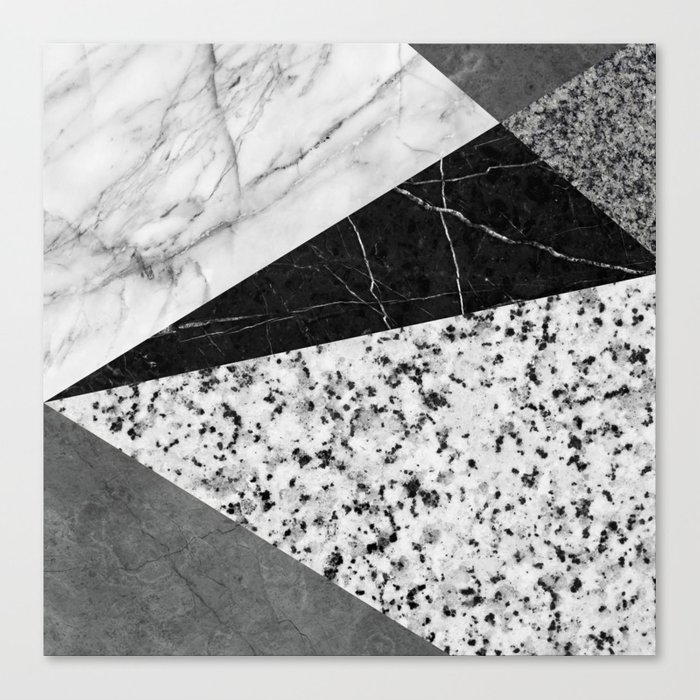 Marble and Granite Abstract Canvas Print