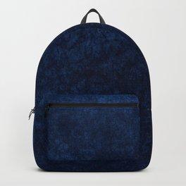Royal Blue Velvet Texture Backpack