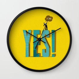 Yes, I Can Wall Clock