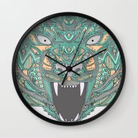 teeth Wall Clocks featuring Teeth by Alexandria Robinson