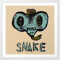 snake mask Art Print