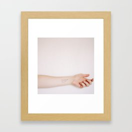 She Would Call Out - Come Here [Square Version] Framed Art Print