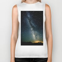 milky way Biker Tanks featuring The Milky Way by 2sweet4words Designs