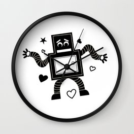 Rant Robot Wall Clock