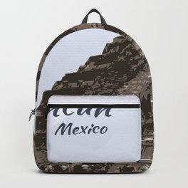 Mayan Pyramid Cancun Mexico Backpack