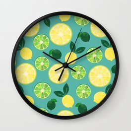 Lemon Lime Wall Clock
