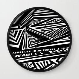 Geometric Stripes Wall Clock