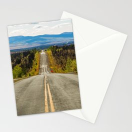 Never-ending Taylor Highway, Chicken, Alaska, color photography by Diego Delso, delso.photo Stationery Cards