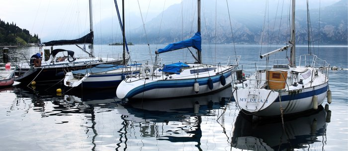 Boats on Lake Garda Coffee Mug