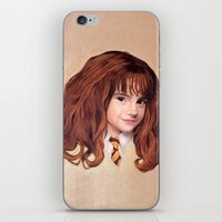 hermione iPhone & iPod Skins featuring Hermione by Shannon Forringer