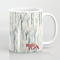 wood Mugs featuring Winter Wood by littleclyde
