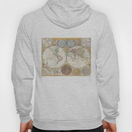 Vintage Map of The World (1794) Hoody