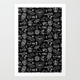Conspiracy pattern Art Print