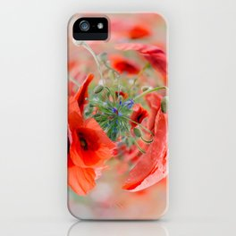 Red poppies - tiny planet iPhone Case
