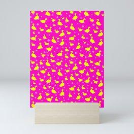 Just Ducky Pink Mini Art Print