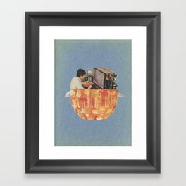Learn at home in your spare time Framed Art Print